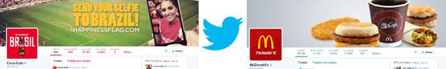 Coca Cola/McDonalds Twitter Pages